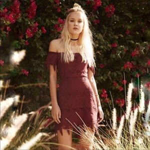 Astr the Label Leaf Lace Dress New! Small